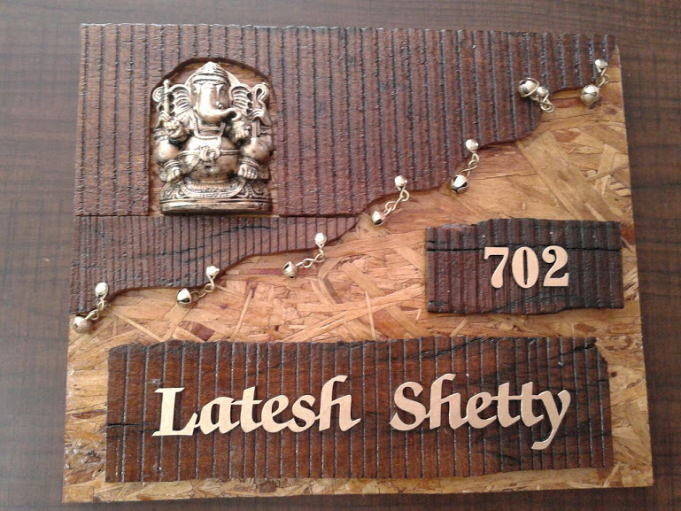 Designer Name Plate makers in thane west Sanghvi arts call us now ...